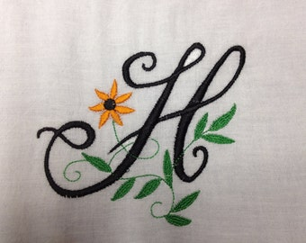 Personalized Dish Towel, embroidered flour sack towel