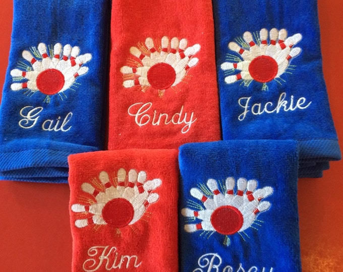 Bowling towel whith personalized embroidery included