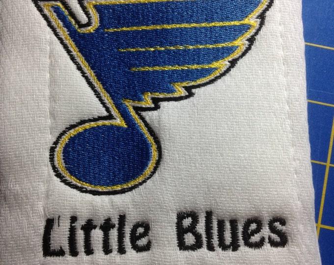 St Louis Blues Burp cloth, Custom personalized
