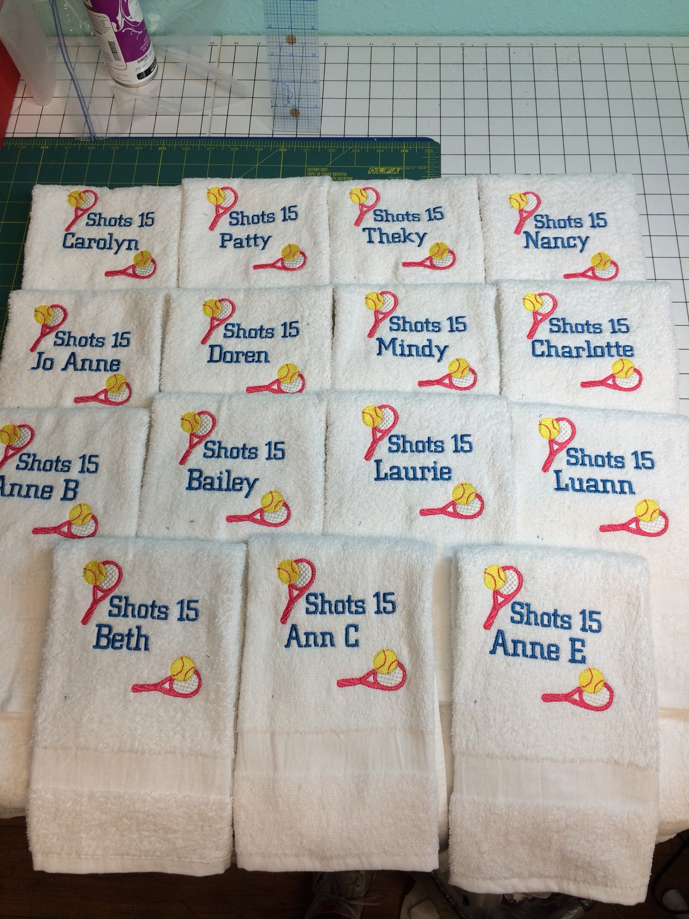 Custom Personalized Embroidered Tennis Towels Personalized Tennis