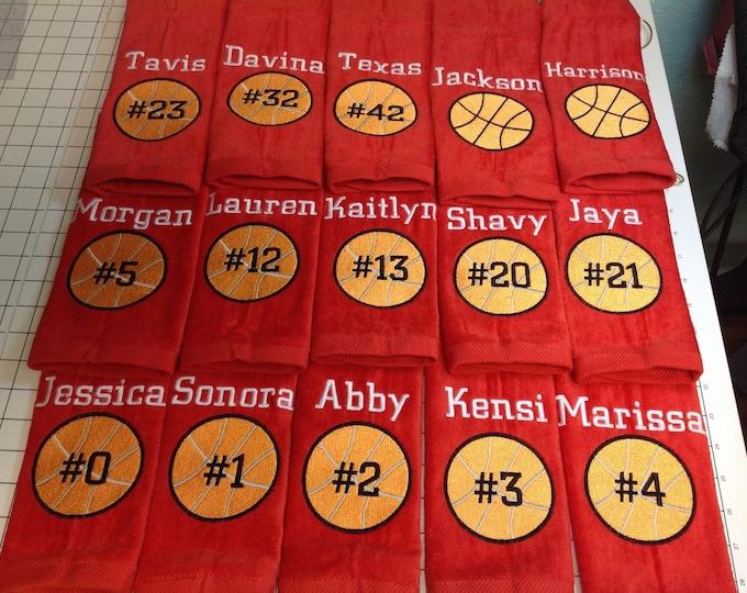 Basketball, Personalized basketball towel, monogrammed great seller, basketball team towels, basketball gift,