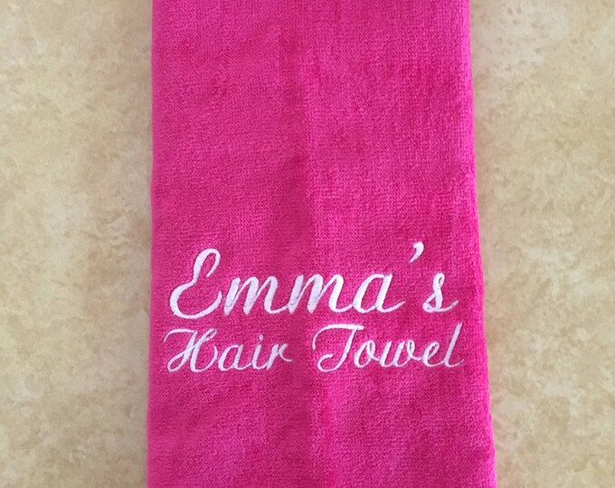 Personalized towels, custom towel with one or two lines only. No design, great for hair, make up, exercise, sports towel,