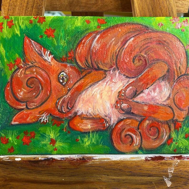Fire Flower Vulpix Painting