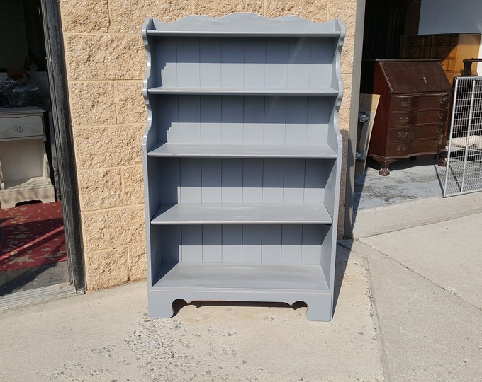 PICK UP ONLY gray bookcase, storage, distressed, country, cottage, farmhouse, rustic, french country, book shelves,  shabby chic