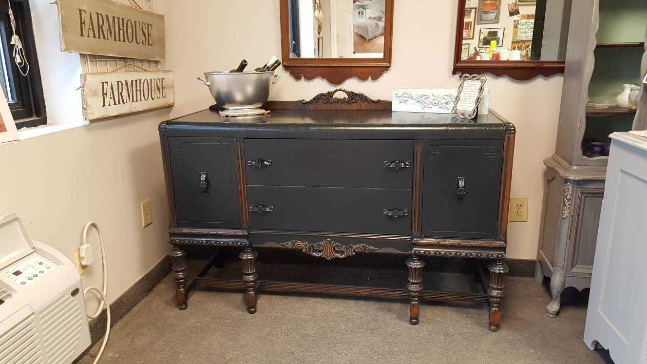 Vintage Shabby Chic Buffet, Sideboard, Server, PICK up ONLY, media ...
