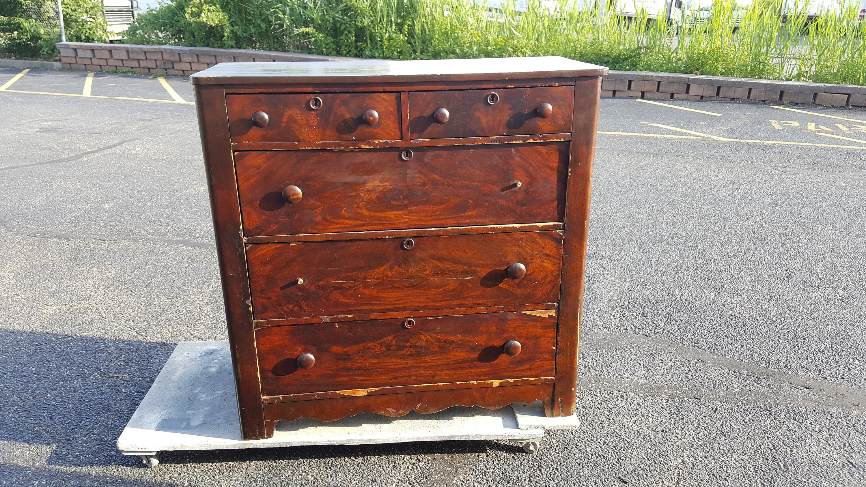 PICK UP ONLY Vintage French Shabby Chic Dresser, painting inc ...