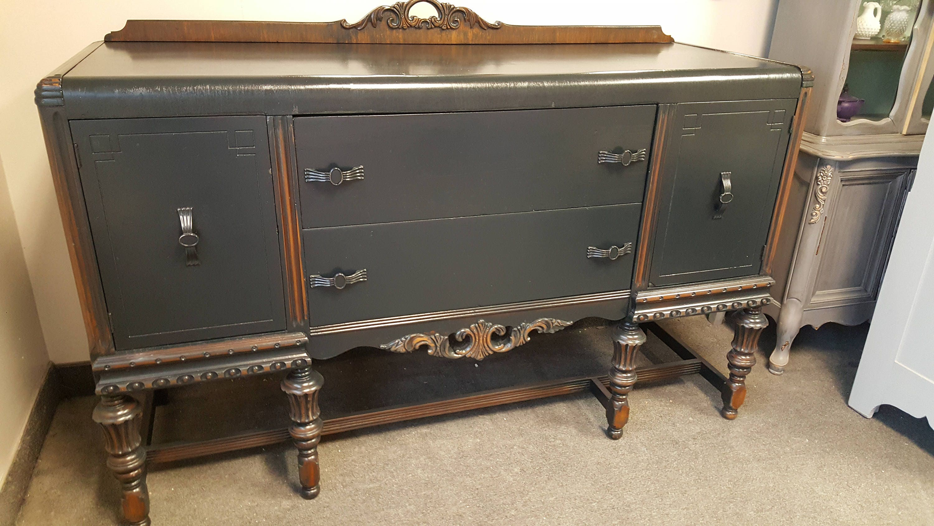 Vintage Shabby Chic Buffet, Sideboard, Server, PICK up ...