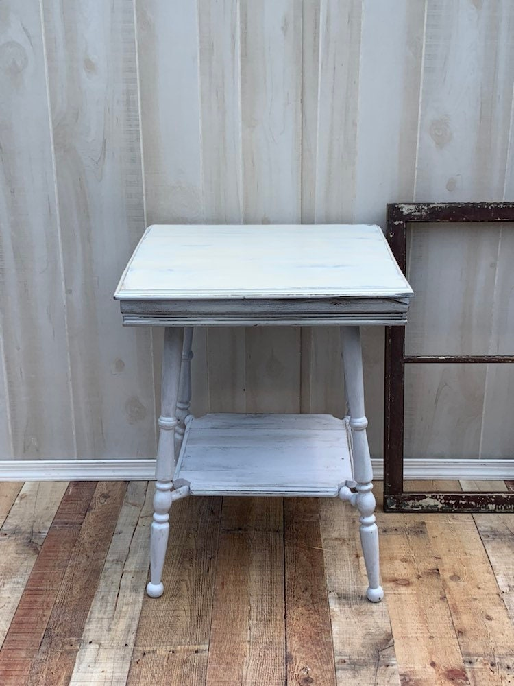 Remarkable Vintage Shabby Chic Table Accent Table Farmhouse Country Home Interior And Landscaping Palasignezvosmurscom