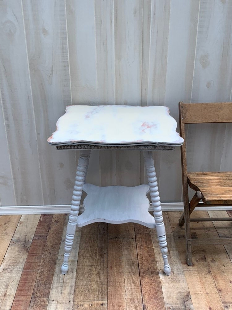 Astonishing Vintage Shabby Chic Table Accent Table Farmhouse Country Home Interior And Landscaping Palasignezvosmurscom