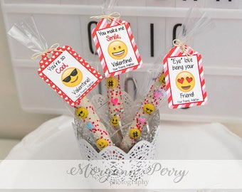Emoji Personalized Valentine's Day Tags