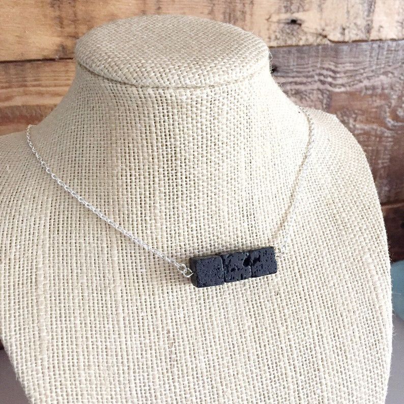 Lava essential oil diffuser necklace  Lava Stone Necklace  image 0