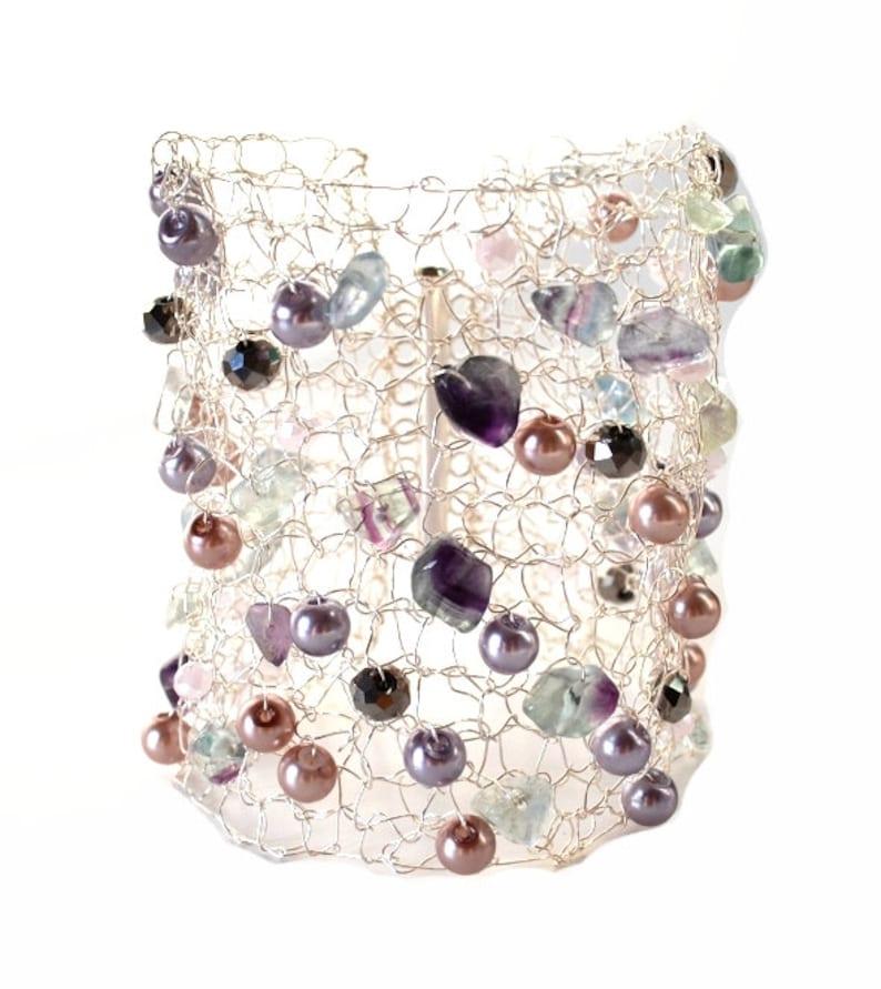 Bethany Silver Cuff. Silver Bracelet. Bride Bracelet. Light image 0