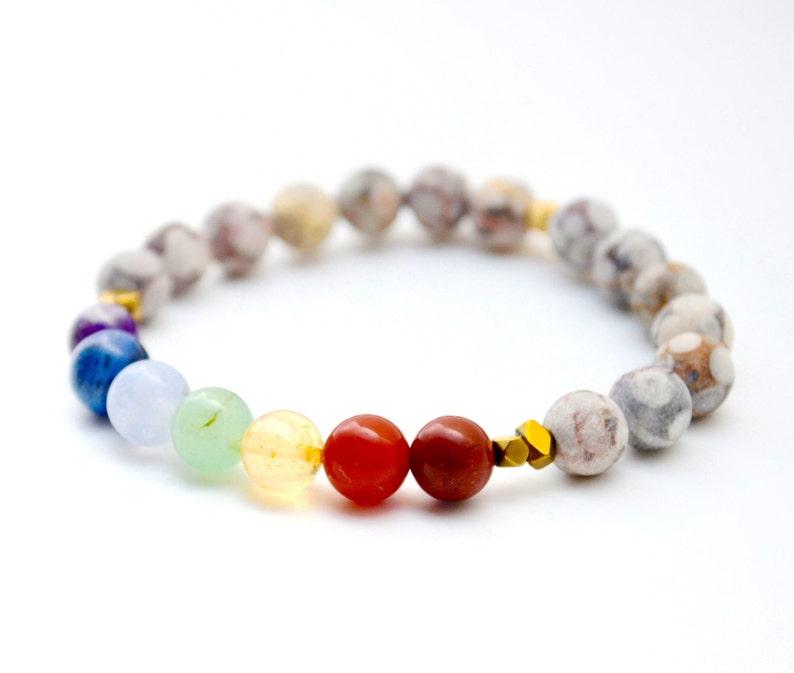 7 Chakra Bracelet  Yoga Bracelet  Yoga Jewelry  Healing image 0