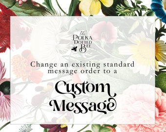 Upgrade from Standard to Custom Message