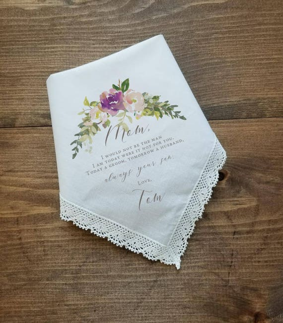 PRINTED CUSTOMIZED Mother of the Groom gift-LS5FCAC Mother of the Bride Gift from the Bride 112 Wedding Handkerchief