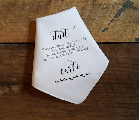 Father of the Groom Wedding Handkerchief