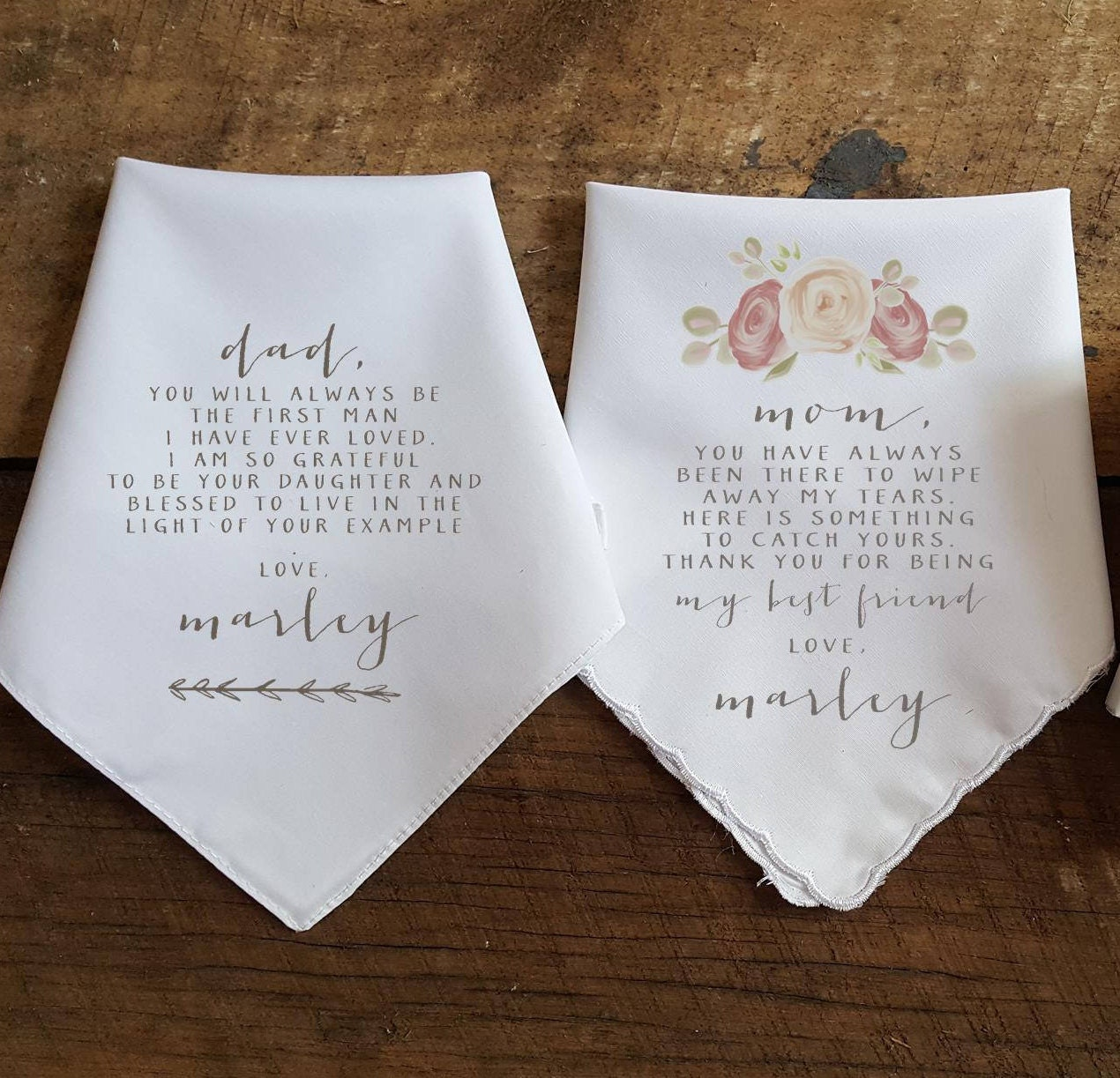 Wedding Gift To Parents Wedding Handkerchief For Mother And Etsy