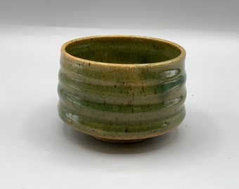 Cute small black and white chawan no 2 tea bowl matcha teacup handmade pottery by GOLEM OOAK