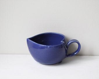 Navy blue heart-shaped mug, large