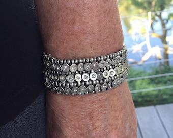 5dae671c75a silver bracelet silver cuff bracelet silver statement jewelry silver  crystal bracelet cuff wide stretch bracelet silver hand made jewelry