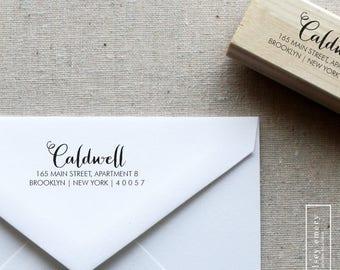 Calligraphy Return Address Stamp. Self-Inking Stamp. Classic Address Stamp. Wooden Mailing Stamp. Self-Inking Address Stamp. Style 16