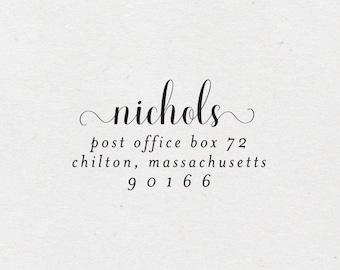 Calligraphy Return Address Stamp. Self-Inking Stamp. Classic Address Stamp. Wooden Mailing Stamp. Self-Inking Address Stamp. Style 63