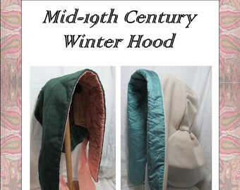 Lappet Style Quilted Winter Hood Pattern - Electronic Pattern -  By Anna Worden Bauersmith