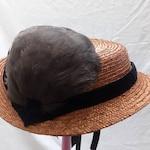 Civil War Era Straw Hat - Hand Sewn by Anna Worden Bauersmith (O3)