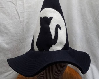 """Whimsy Witch Hat by Anna Worden Bauersmith (WW17) 20.5"""" circumference"""