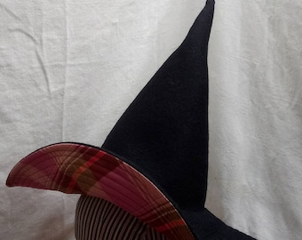 """Whimsy Witch Hat by Anna Worden Bauersmith (WW18) 20"""" circumference"""