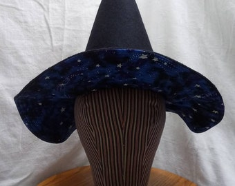 """Whimsy Witch Hat by Anna Worden Bauersmith (WW21) 21"""" circumference"""