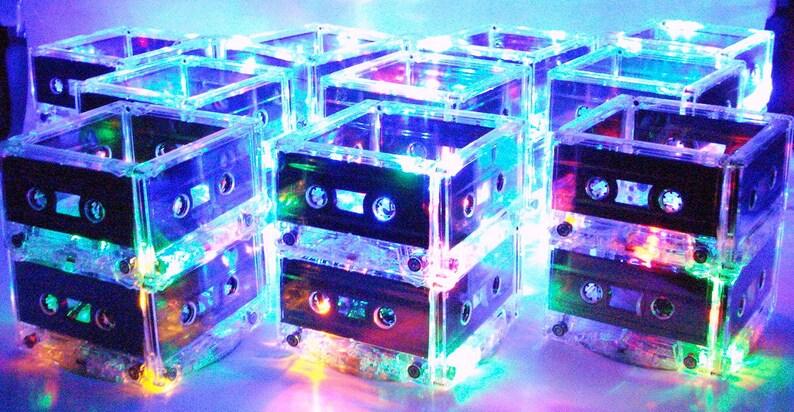 100 80s Party Centerpieces Cassette Tape Light 90s Decoration