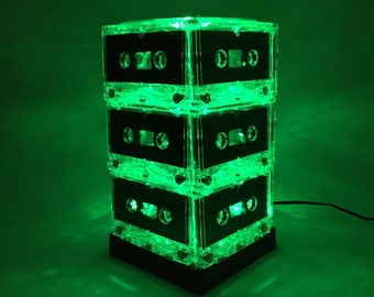 Green Cassette Tape Lamp Mixtape Light