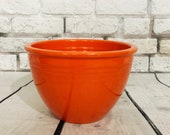 Vintage Original Radioactive Red Fiesta Ware Nesting Mixing Bowl 4 with Rings 1936-1942 Vintage Mid Century Kitchen Pre WWII
