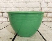 MINTY Vintage 1930s Green Fiesta Nesting Bowl Number 5 With Rings 1938-1944 Fiesta Ware Mixing Bowl WWII Era Vintage 30s 40s Kitchen