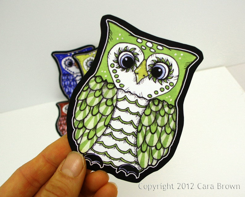 Owl Sticker Cute Vinyl Decal For Car Window Bumper Laptop