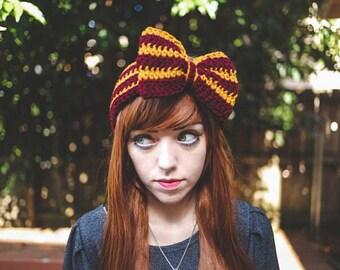 Gryffindor - Handmade Crochet Hogwarts Harry Potter Bow Headband