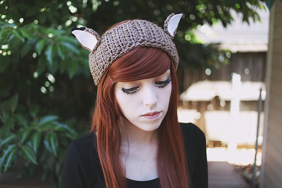 Shika Handmade Crochet Deer Ear Headband Ear Warmer Animal  95202feb45c