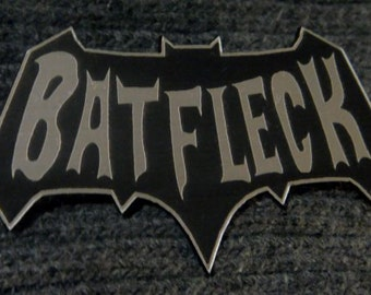 Custom BATFLECK Pinback Badge BATMAN Ben Affleck Dark Knight