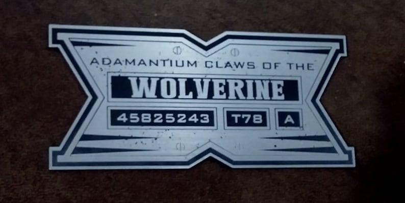 Adamantium Plaque Prop Wolverine X Affichage Custom Griffes Men lKcJ35uF1T