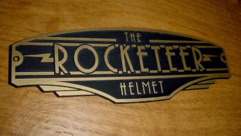ROCKETEER HELMET Display Nameplate Placard image 1