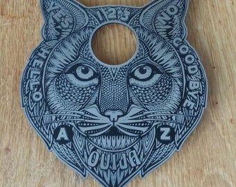 Custom MYSTIC CAT PLANCHETTE Magic Spook Show Paranormal Voodoo Psychic Ouija