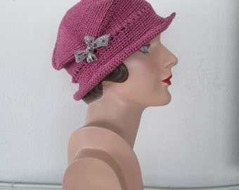 378d8ab95 Vintage Style Crocheted Cloche Hat Head of the ClassChemo