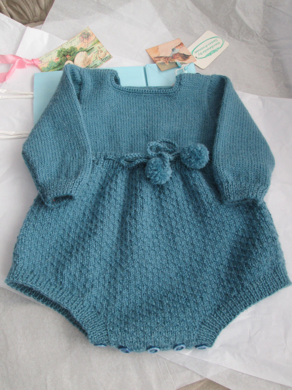Pdf Knitting Pattern Jolly Romper Baby Vintage Style Size