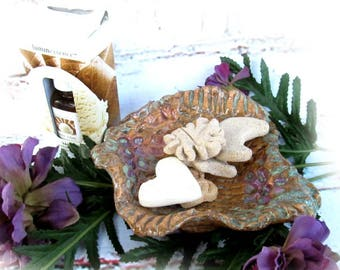pottery essential oil diffuse - Aromatherapy bowl clay shapes -- Handmade Ceramic dish - Essential Oils - Spa Decor - Yoga Accessory- # 76