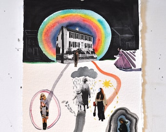 The Women's Shelter. Original Collage.