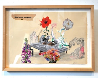 Reap what you Sow. Original Framed Collage.