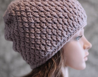 Crochet PATTERN - Crochet Pattern Hat - Crochet Slouchy Hat - Cable Crochet Hat Pattern - Baby, Toddler, Child, Kids, Adult Sizes -  PDF 237