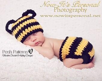 Crochet PATTERN - Crochet Bumble Bee Hat - Diaper Cover Pattern - Crochet Hat  Pattern - Baby Crochet Pattern - Crochet Pattern Hat - PDF 161 6ce89c237107
