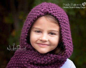 Knitting Pattern - Knit Hooded Cowl - Knitting Patterns - Knitting Pattern  Hat - Hooded Scarf - Toddler 0b0a94594b23